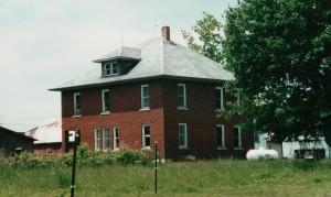 Former home of John & Lizzie (Schinnerer) Scare, Van Wert County, Ohio, built c1914 (2001 photo)
