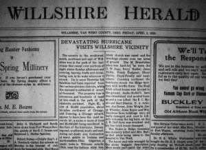 The Willshire Herald, 2 April 1920