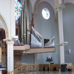 Organ pipes in the Chapel