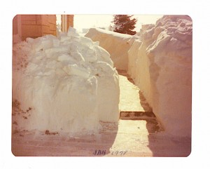 Front walk of my parents' home after the Blizzard of 1978.