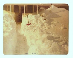 Back walk at my parents' home after the Blizzard of 1978.
