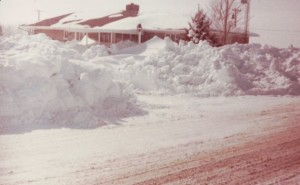 Back of my parents home, Blizzard of 1978.