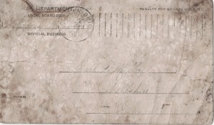 Carl F. Miller, WWI Notice of Draft Classification, Jan 1918, Mercer County, Ohio.