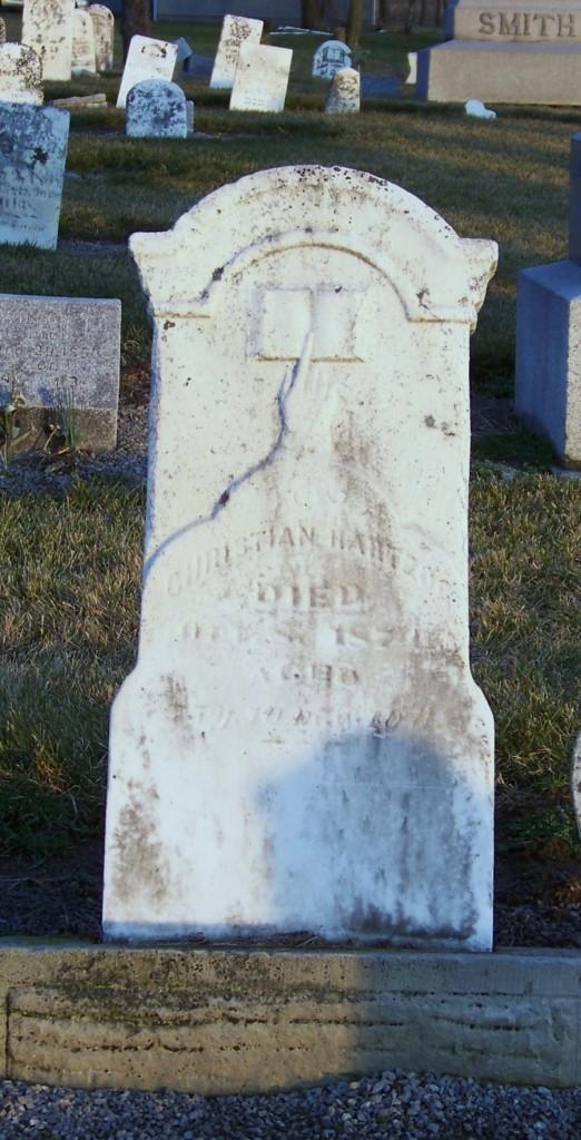 Christian Hartzog, Hileman/Smith/Hartzog/Alspaugh Cemetery, Van Wert County, Ohio. (Karen's Chatt)