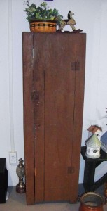 Cupboard that Carl Miller probably made.
