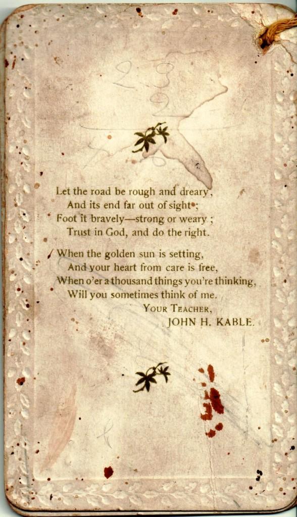 Wild Cat Souvenir Booklet, back of Card 3.