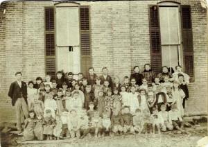 Wild Cat School, Mercer County, Ohio. Undated photo.