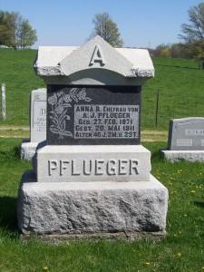 Anna R. Pflueger, Zion Lutheran Cemetery, Schumm, Van Wert County, Ohio.