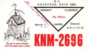 "Herb Miller ""The Railsplitter"" postcard from the 1960s."