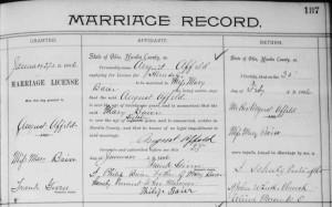 Affeld/Baier marriage, 1896.