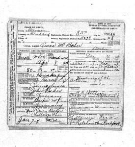 Anna M. Becher death certificate, 26 December 1917, Mercer County, Ohio.
