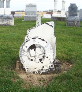 Friedrich Becher, Zion Lutheran Cemetery, Chattanooga, Mercer County, Ohio. (2011 photo by Karen)