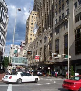 Downtown Cincinnati.
