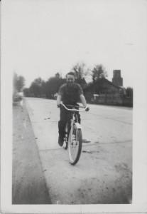 Dale Caffee on a bike
