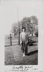 Dorothy Jean, Willshire High School Commencement, 1943.
