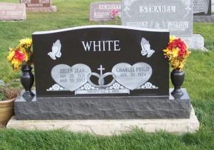 Helen Jean White, Zion Lutheran Cemetery, Chattanooga, Mercer County, Ohio. (2011 photo by Karen)