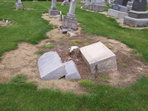 Michael Pflueger, Greenbriar Cemetery, Van Wert County, Ohio. (2013 photo by Karen)