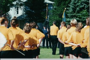Memorial Day Service at Willshire Cemetery 2000.