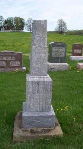 Maria C. Pflueger, Zion Lutheran Cemetery, Schumm, Van Wert County, Ohio. (2013 photo by Karen)