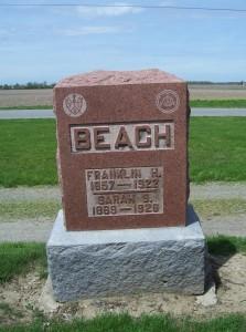 Franklin & Sarah Beach, Woodlawn Cemetery, Van Wert County, Ohio. (2013 photo by Karen)