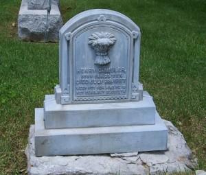 Henry C. Miller marker, Union Cemetery, Darke County, Ohio. (2006 photo by Karen)
