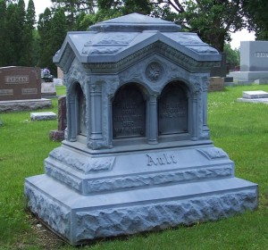 Ault monument, Union Cemetery, Darke County, Ohio. (2006 photo by Karen)