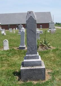 Georg F & Eva Barbara Hoehamer, Mount Hope Cemetery, Adams County, Indiana. (2013 photo by Karen)