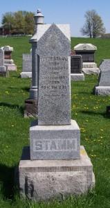 Peter Stamm, Zion Lutheran Cemetery, Schumm, Van Wert County, Ohio. (2012 photo by Karen)