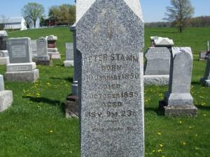 Peter Stamm, Zion Lutheran Cemetery, Schumm. (2012 photo by Karen)