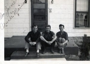 Brewster brothers, Mainard, Melvin, and William. (Photo courtesy of T Perkins)