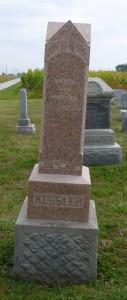 Christian & Marie Kessler, Kessler Cemetery, Mercer County, Ohio. (2013 photo by Karen)