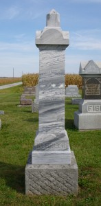 Jakob Kessler, Kessler Cemetery, Mercer County, Ohio. (2013 photo by Karen)