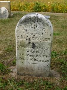 John G. Kessler, Kessler Cemetery, Mercer County, Ohio. (2013 photo by Karen)