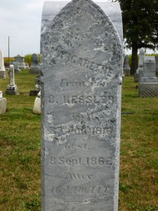 Margarethe Kessler, Kessler Cemetery, Mercer County, Ohio. (2013 photo by Karen)