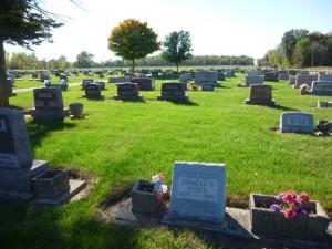 Interment area of Edward R. & Almeda Kessler, Swamp College Cemetery. (2013 photo by Karen)
