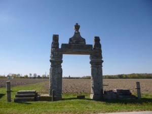 Palmer Cemetery, Palmer Road, Mendon, Ohio. (2013 photo by Karen)