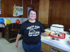 Valerie, new Chatt Bar owner. (2013 photo by Karen)