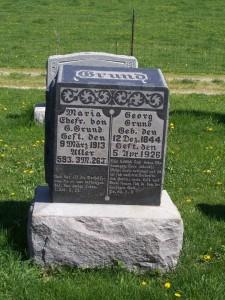 Georg & Maria Grund, Zion Lutheran Cemetery, Van Wert County, Ohio. (2012 photo by Karen)