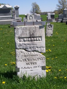 J. Michael Grund, Zion Lutheran Cemetery, Schumm, Van Wert County, Ohio. (2012 photo by Karen)