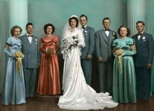 Miller/Schumm wedding, 3 December 1950.