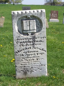 Catherina Schuler, Zion Lutheran Cemetery, Schumm, Van Wert County, Ohio. (2012 photo by Karen)