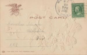 To Cornelius Schumm, TT 2, Willshire, Ohio. 1909.