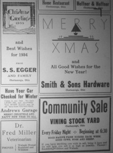 5 Chatt ads 1933 Willshire Herald