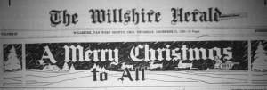 The Willshire Herals, Christmas 1933.