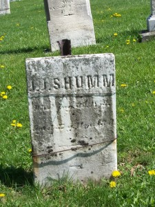 J.J. Schumm, Zion Lutheran Cemetery, Schumm, Van Wert County, Ohio. (2012 photo by Karen)