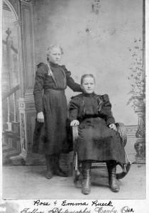 Rose & Emma Rueck, Oregon, c. 1899.
