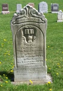 Maria (Schumm) Schinnerer, Zion Lutheran Cemetery, Schumm, Van Wert County, Ohio. (2012 photo by Karen)