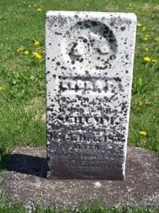 Georg Frederick Schumm, Zion Lutheran Cemetery, Van Wert County, Ohio. (2012 photo by Karen)
