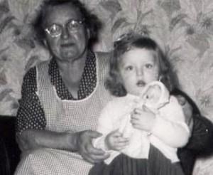 Grandma Miller and me.