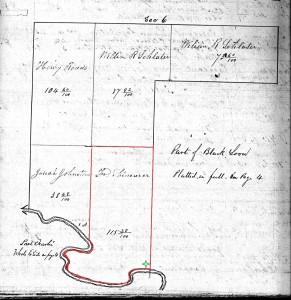 Friedrich Schinnerer property, Dublin Township, 1853 Mercer County Plat Book, p. 315A.